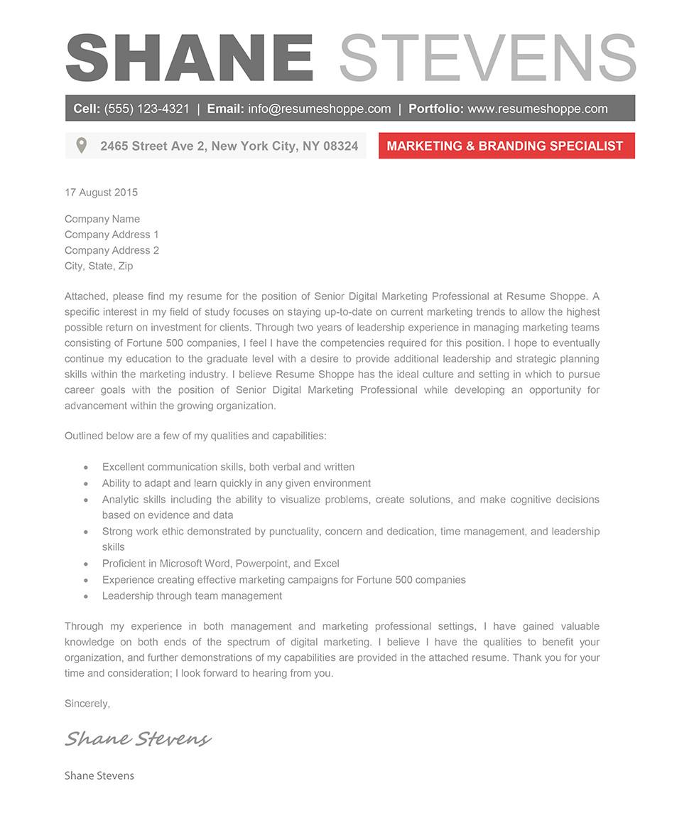 shane cover letter