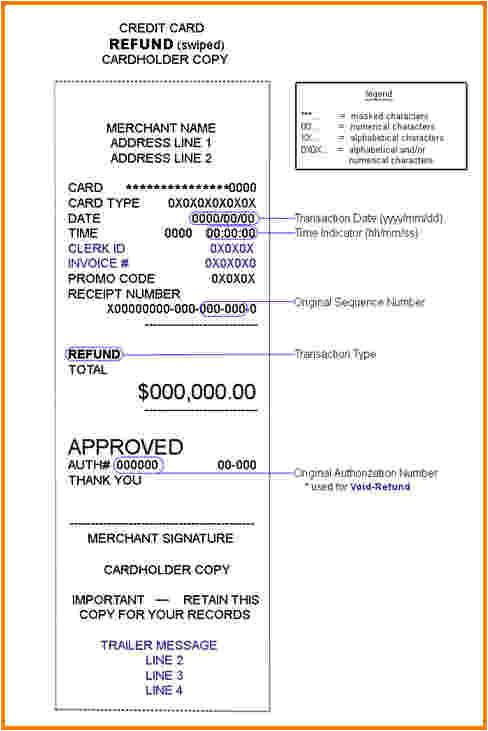 8 credit card receipt template
