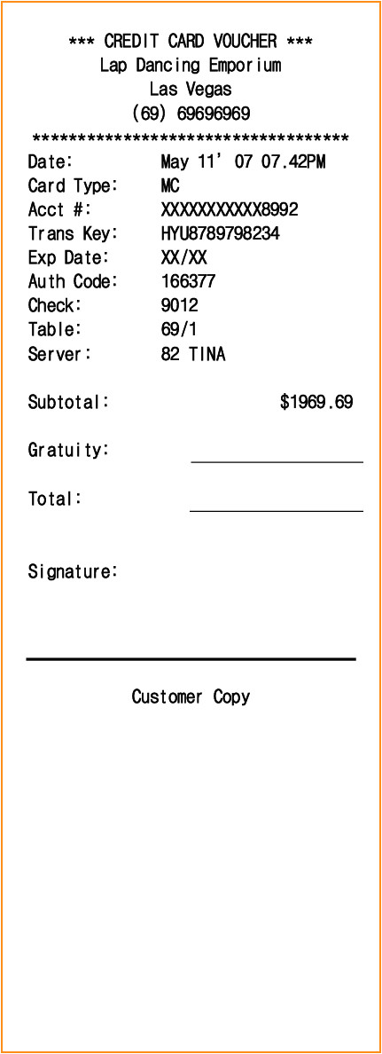 Credit Card Receipt Template Word 11 Credit Card Receipt Template Invoice Template Download