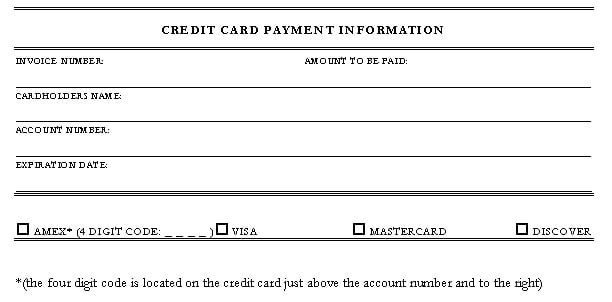 5 credit card authorization form templates