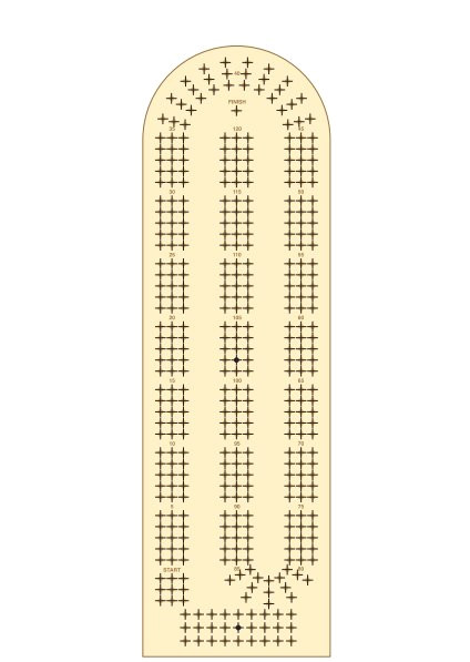 cribbage board template