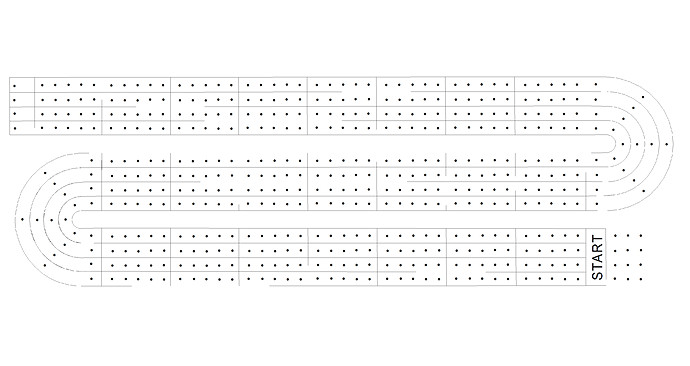 cribbage board templates