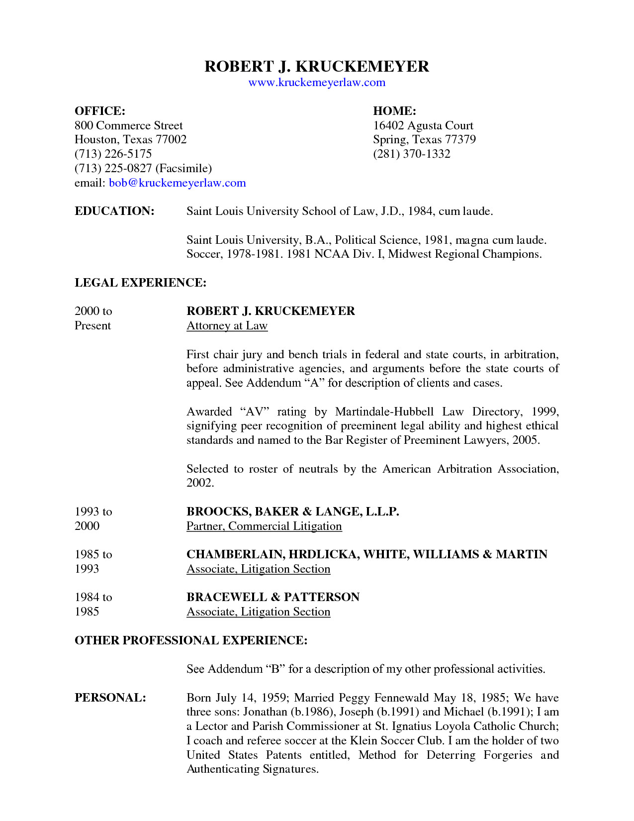 attorney resumes