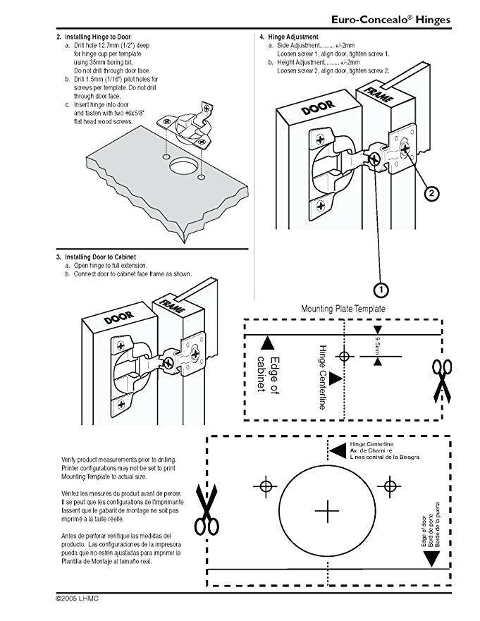 kitchen door hinge drilling jig
