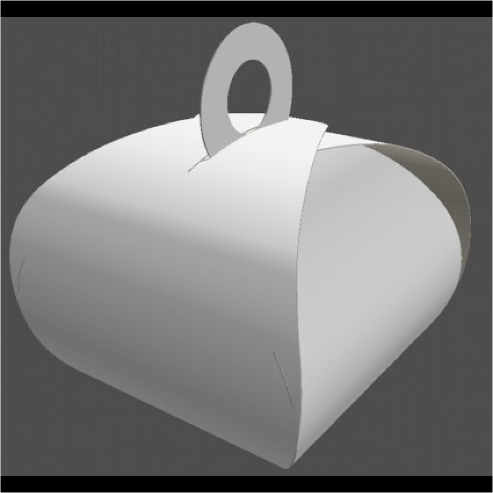 4 x 4 x 3 5 curved paperboard gable box