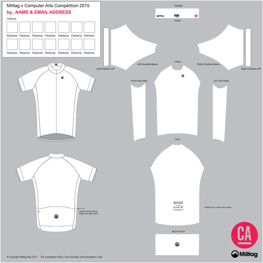 bicycle jersey template