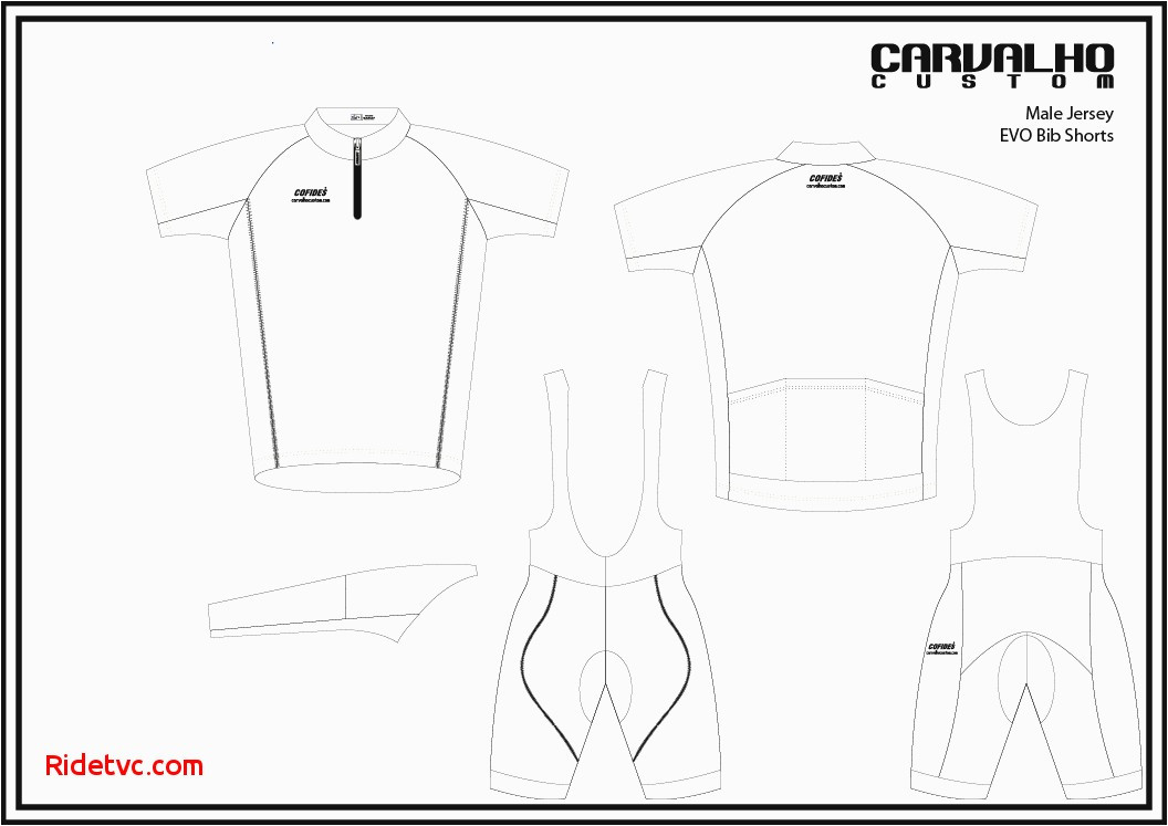 bicycle jersey vector template