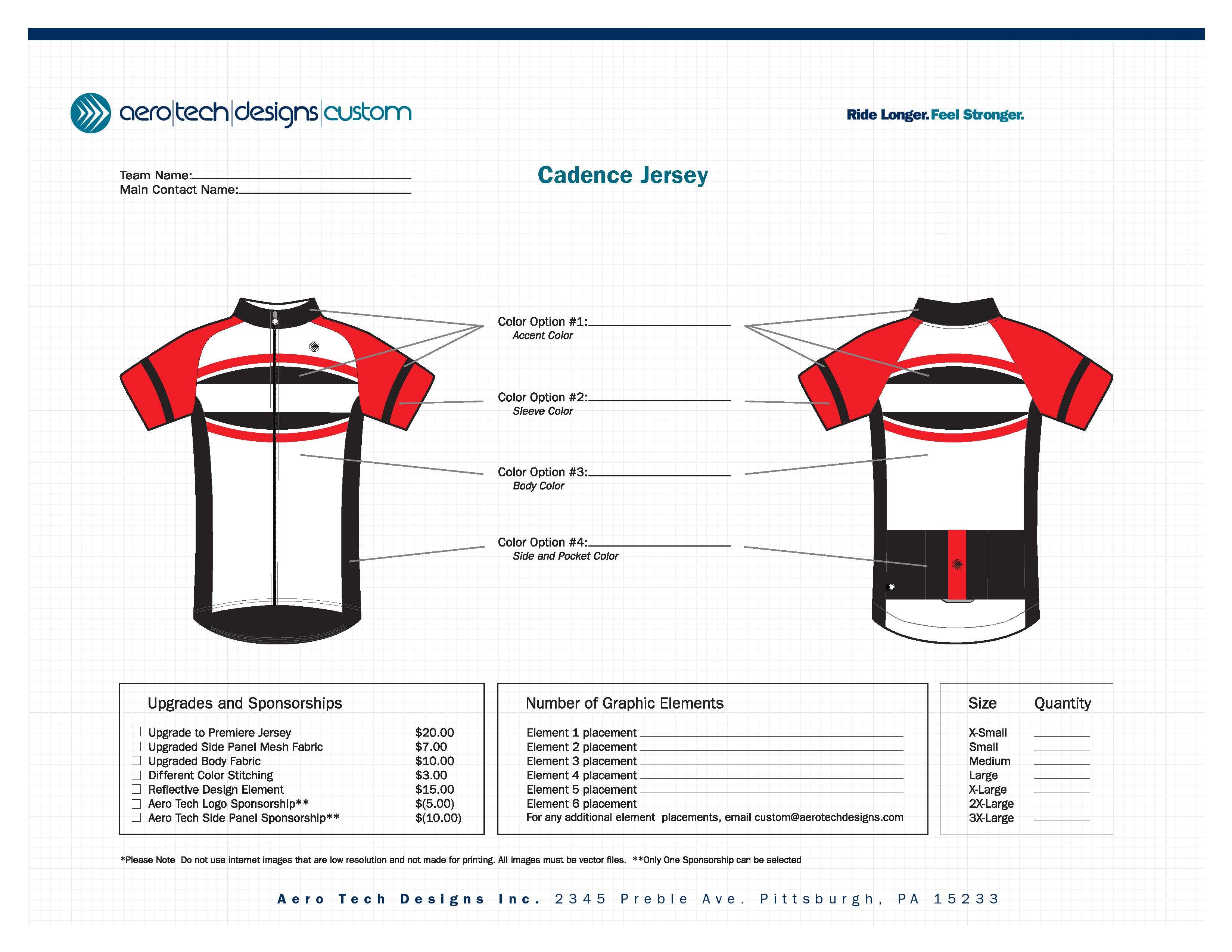 semi custom cycling jersey kits