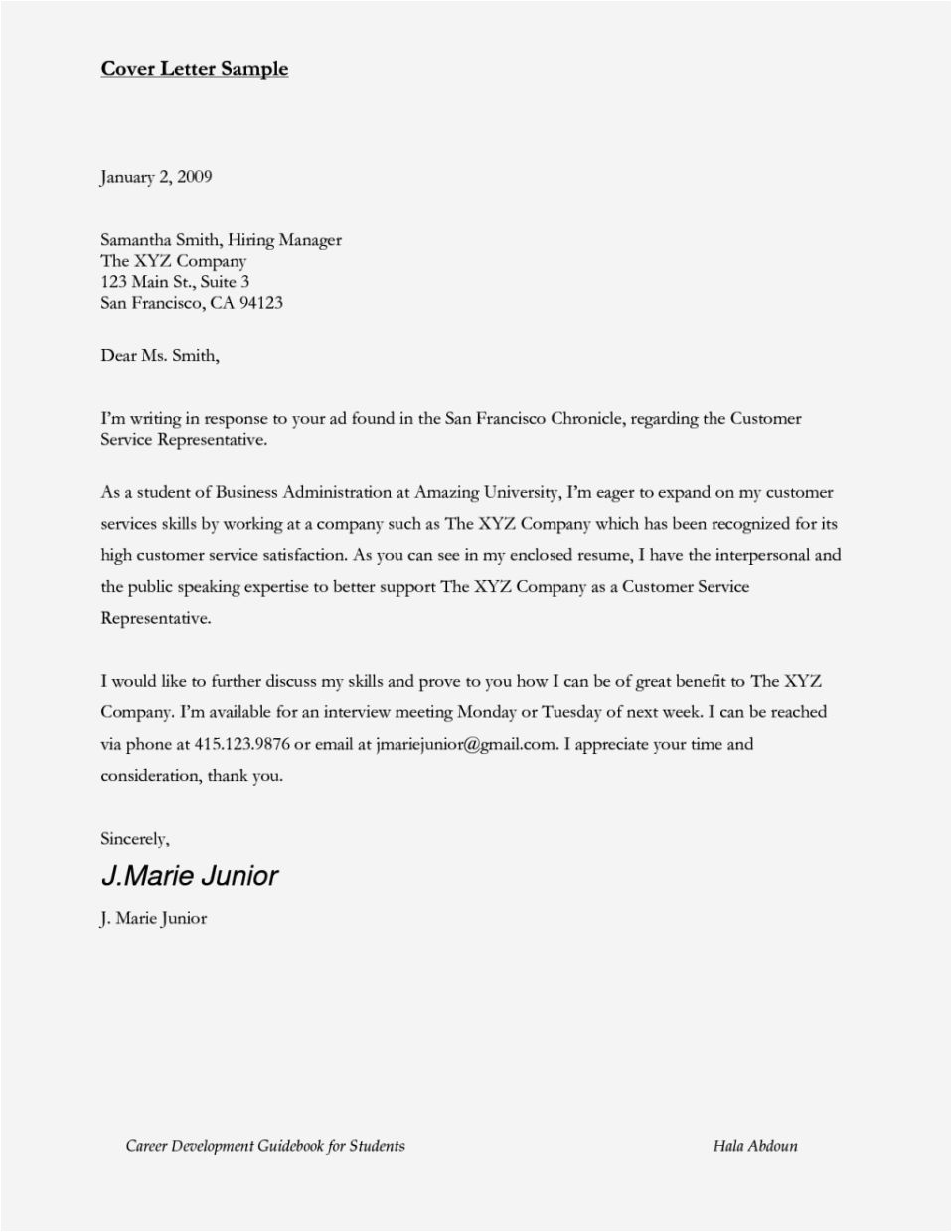 airline customer service agent cover letter