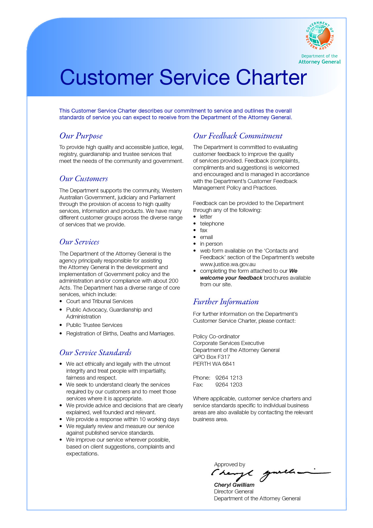 Customer Care Charter Template Best Photos Of Department Charter Templates Name Change