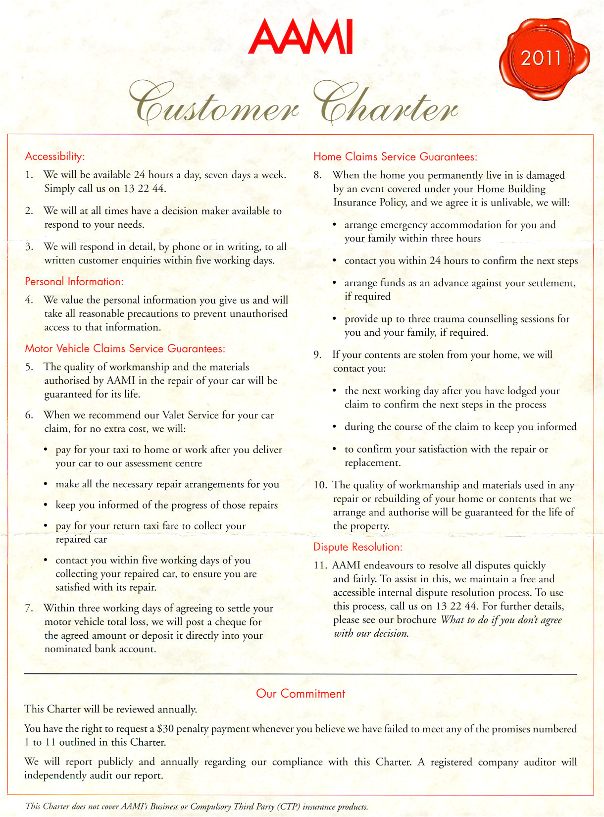 charter customer service template