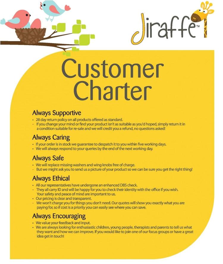 client service charter template