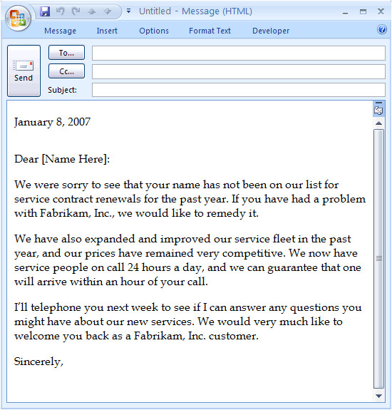 Customer Service Message Template Download Sales Letter Templates and Open with Microsoft