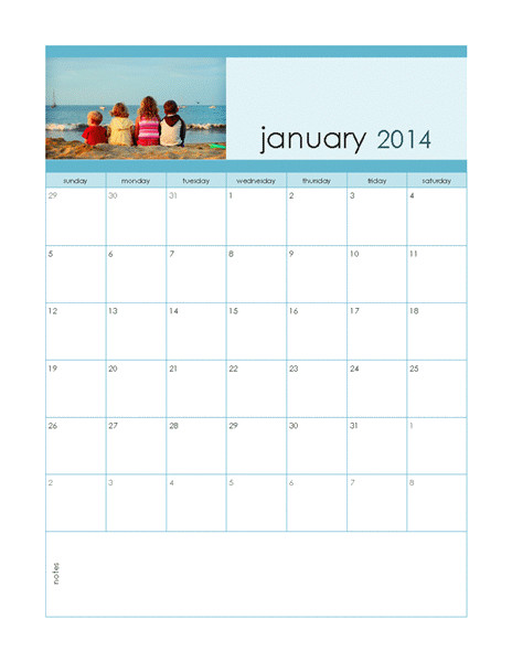 monthly 2014 customizable design week st 2306