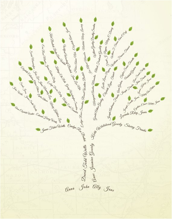 Customizable Family Tree Template Custom Family Tree 6 Generations Print Copy by Ancestryprints