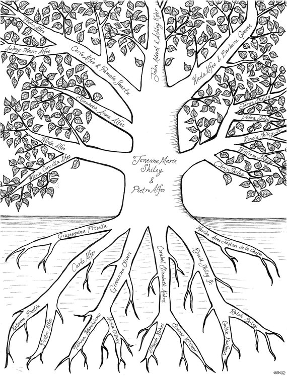your family tree custom illustrated in