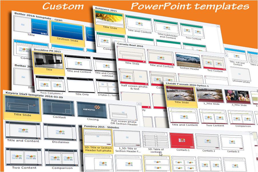 custom powerpoint templates