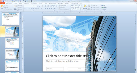how to create a powerpoint template using a jpg image background