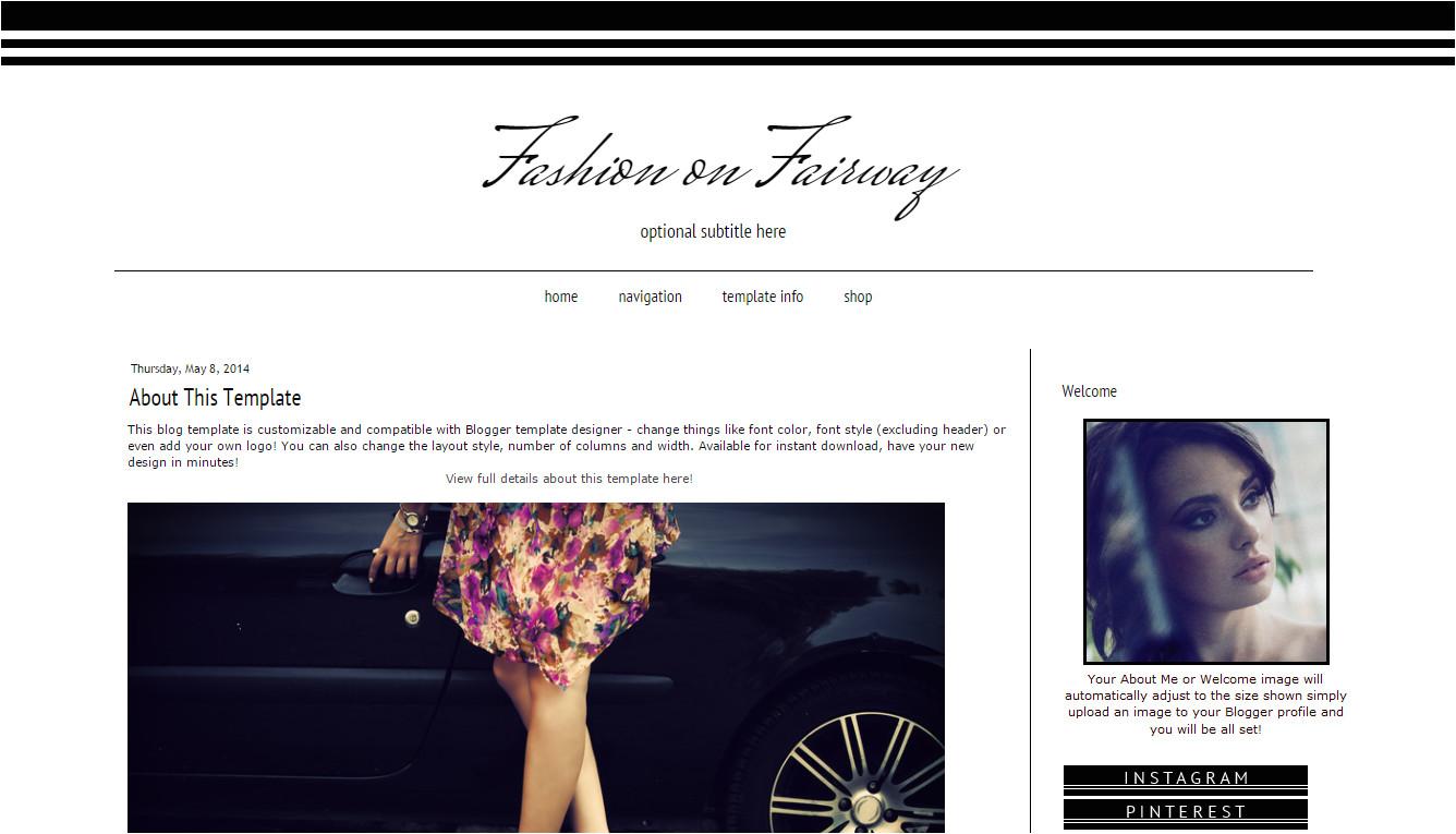 custom blog template