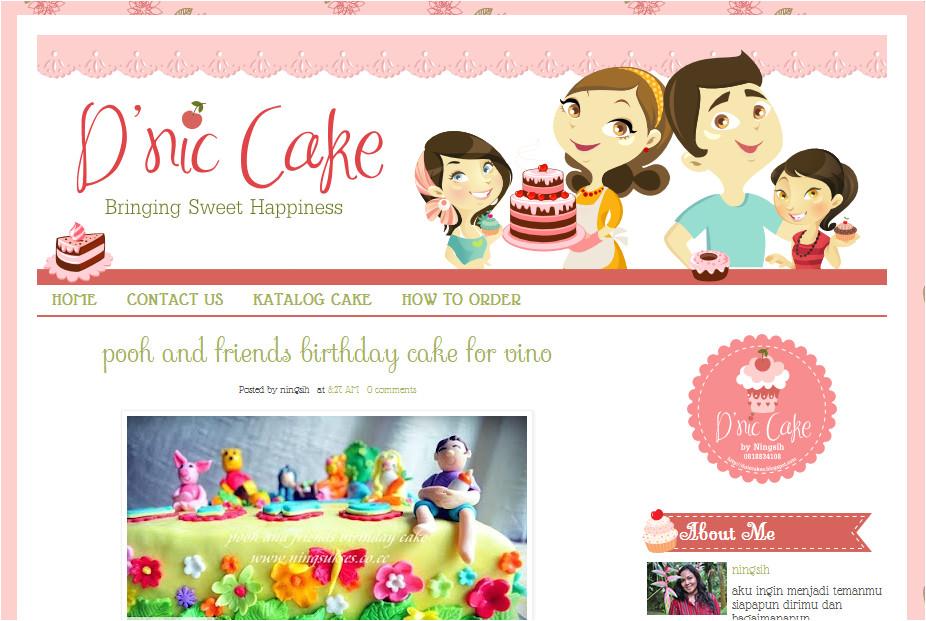 dnic cakes custom blogger template
