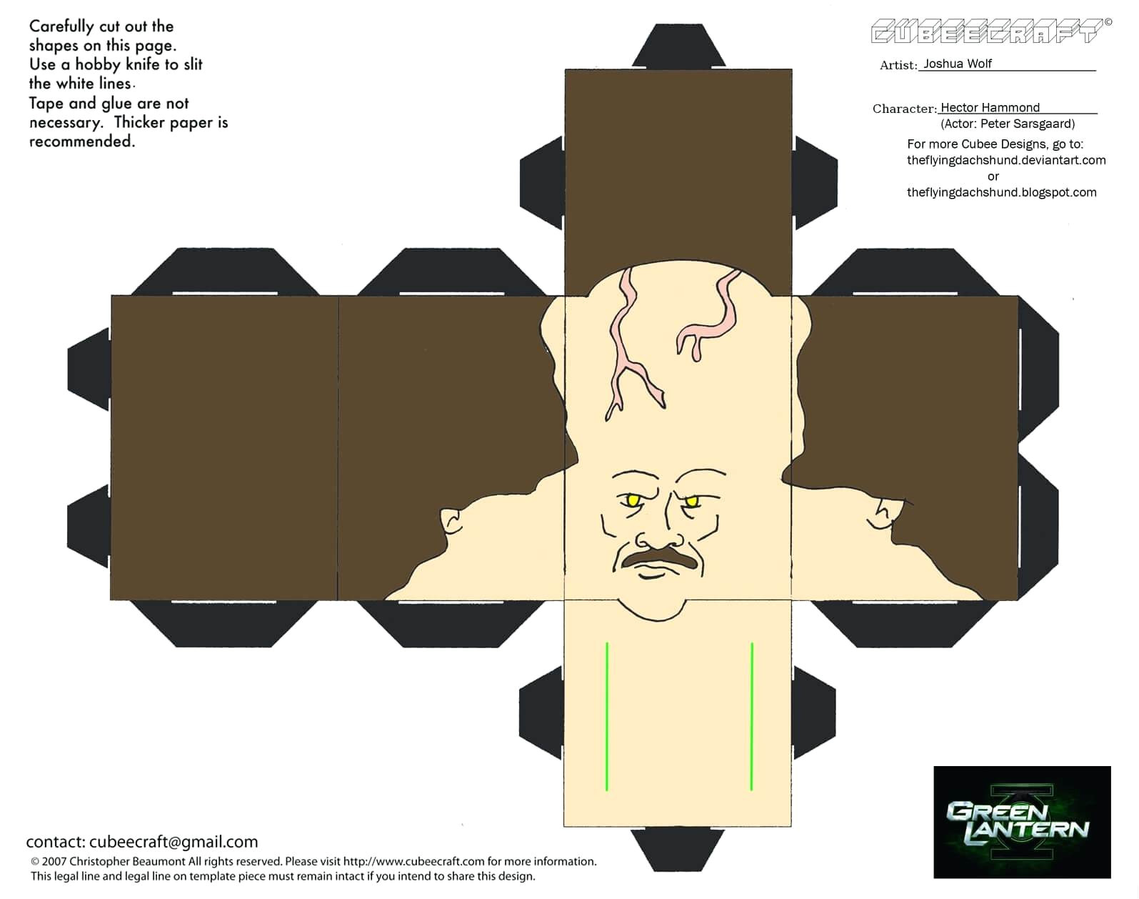 cut out character template