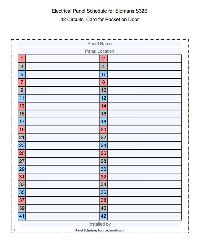 Cutler Hammer Panel Schedule Template attractive Panel Schedule Template Gallery Example