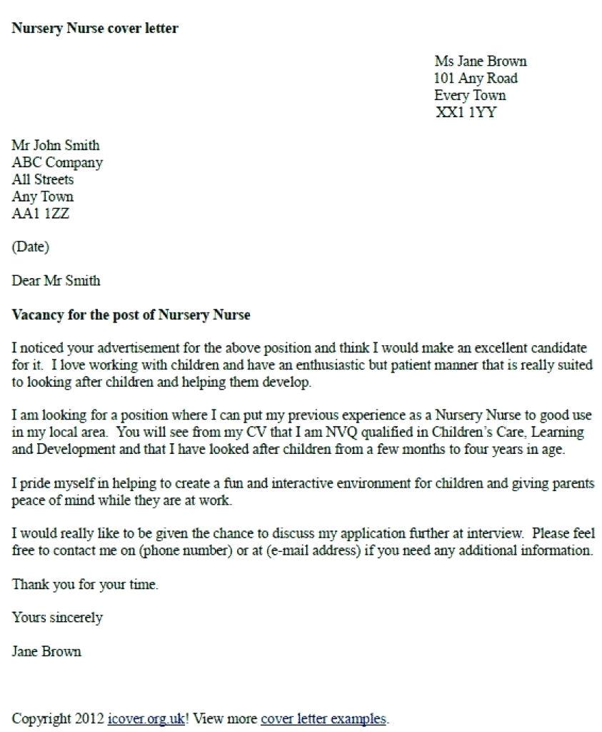 cv cover letter template uk