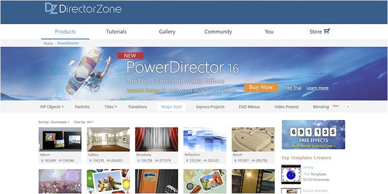 cyberlink powerdirector 11 templates free downloads