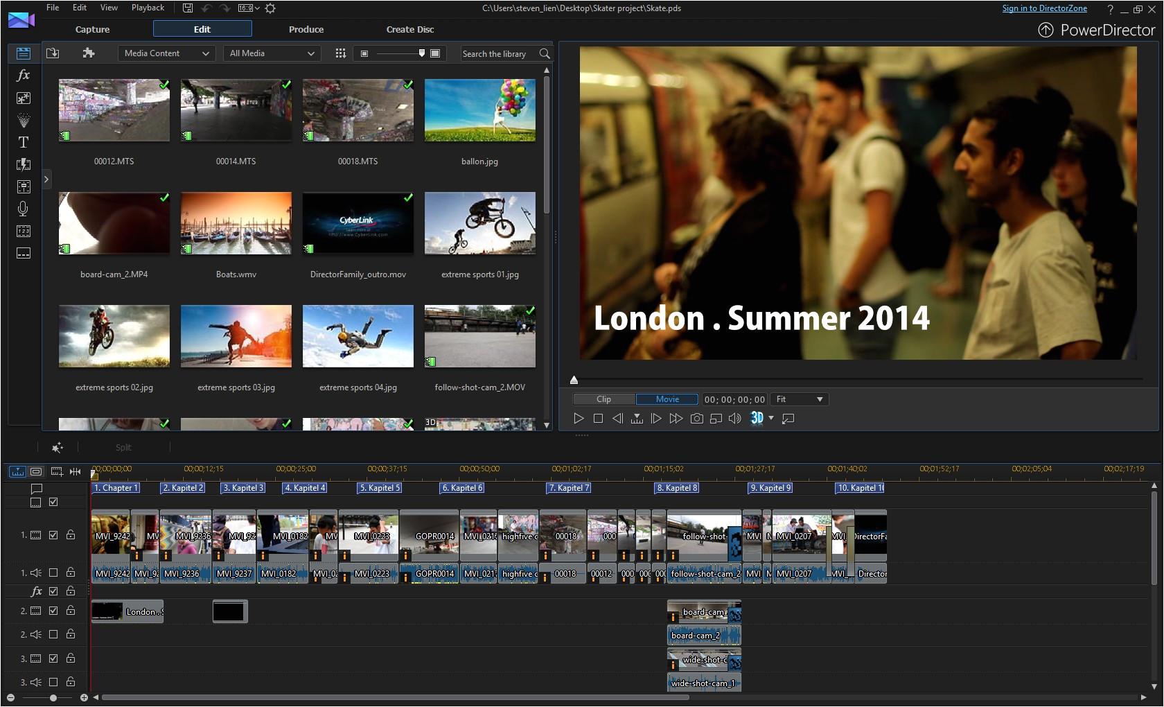 Cyberlink Powerdirector Slideshow Templates Cyberlink Powerdirector 13 Ultimate Create Slideshow