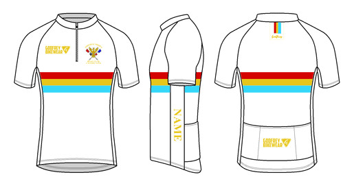 Cycling Shirt Template Custom S S Classics Neck Zip Cycling Jersey Imperial