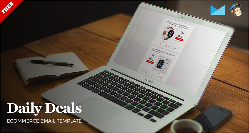 Daily Deal Template Daily Deals Ecommerce Website Newsletter Psd HTML Free
