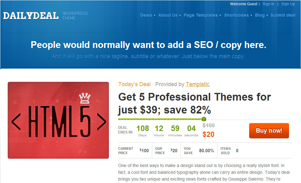 Daily Deal Template top Best 50 Classifieds Directory WordPress Templates