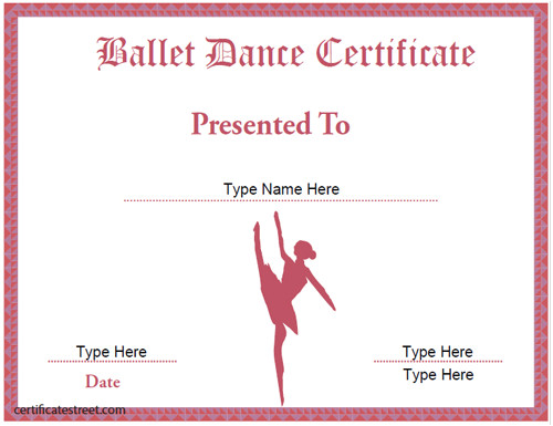 Dance Certificate Templates Free Download Certificate Street Free Award Certificate Templates No
