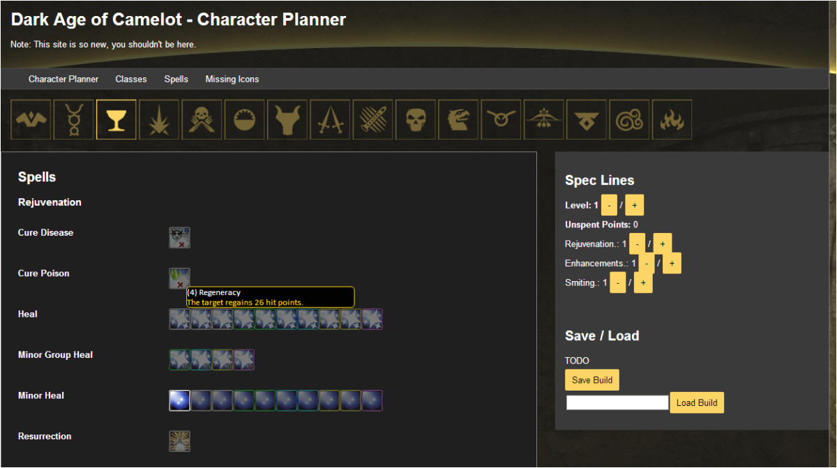 project daoc character planner