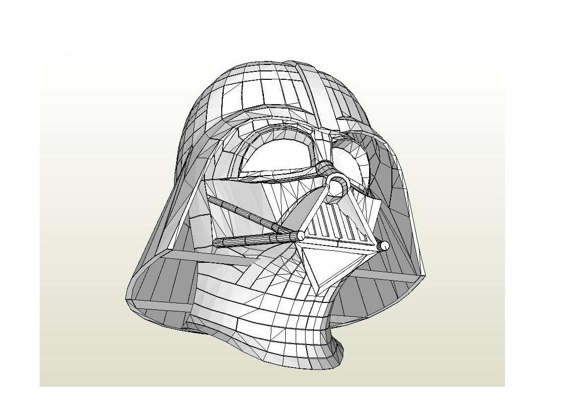 Darth Vader Helmet Template Darth Vader Helmet Star Wars 1 1 Full Scale Life Size Diy