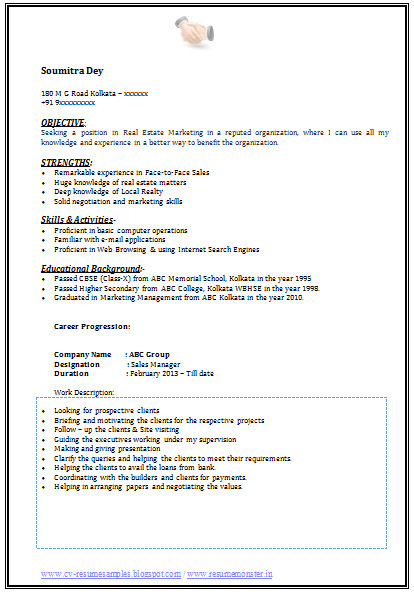 graduate marketing resume
