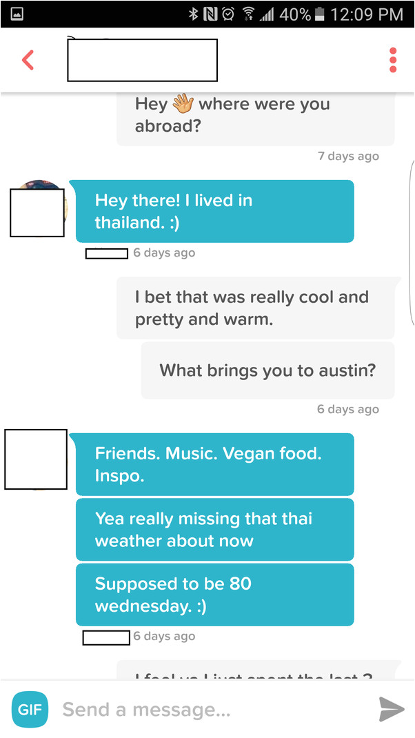 dating site first message template