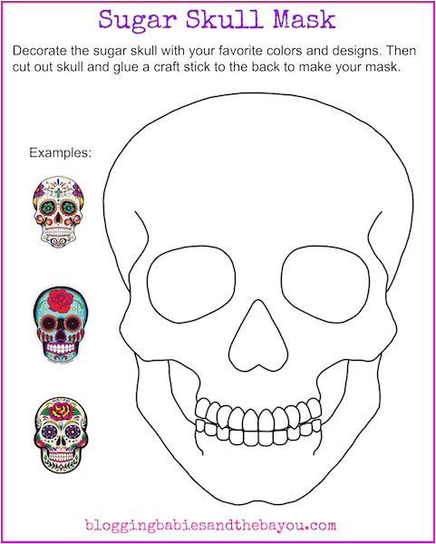 bilingual dia de los muertos day of the dead printable childrens educational learning activity