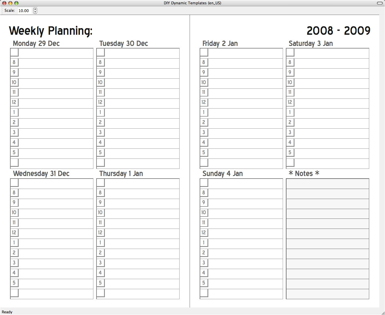 daytimer print your own planner pages