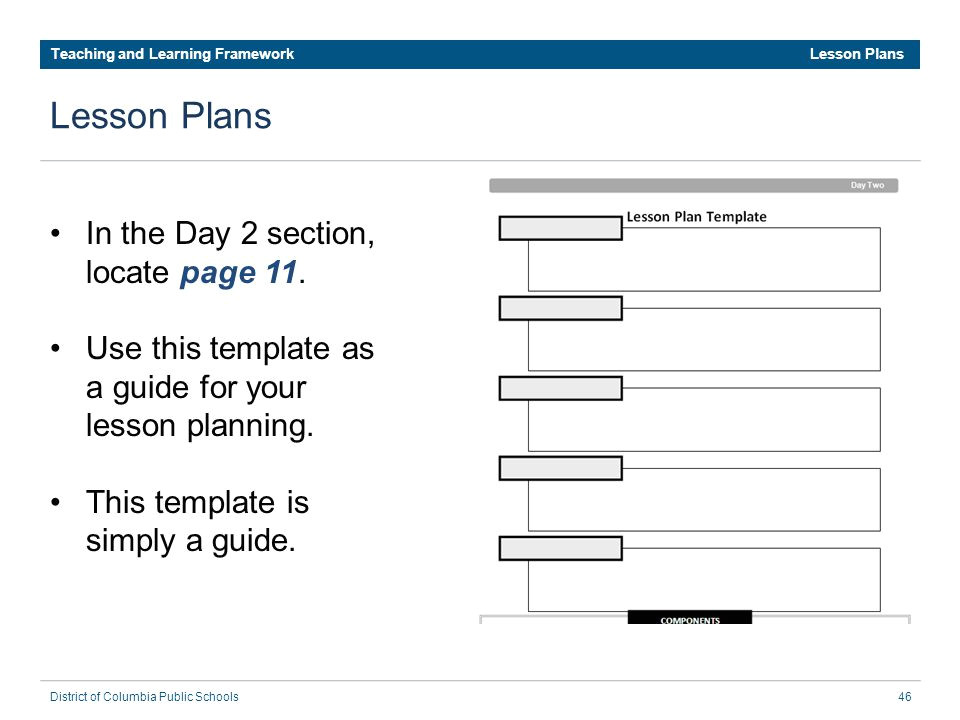 Dcps Lesson Plan Template Dcps Teaching and Learning Framework Ppt Download