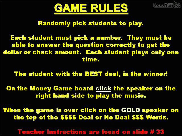 deal or no deal powerpoint game template interactive tefl game template deal or no deal authorstream templates