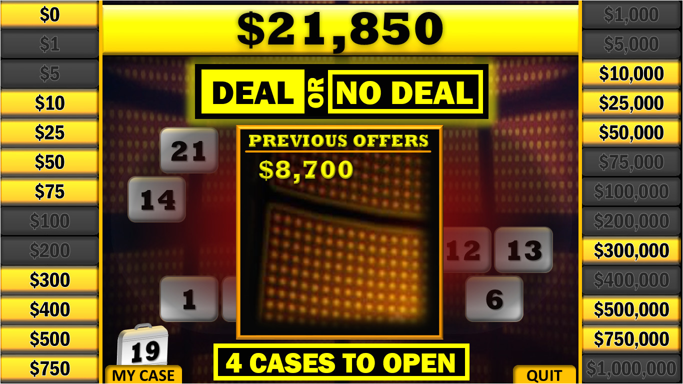 Deal or No Deal Template Powerpoint Free Free Powerpoint Gameshow Templates