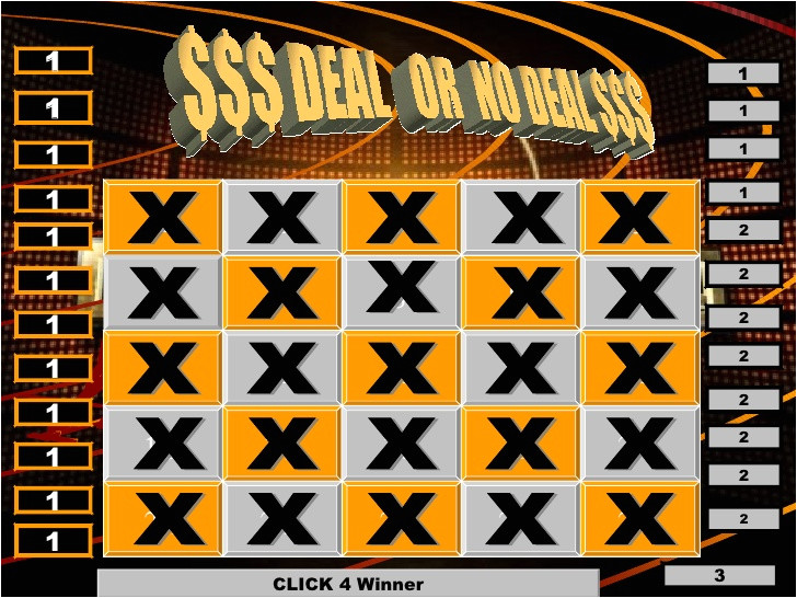 deal or no deal powerpoint template