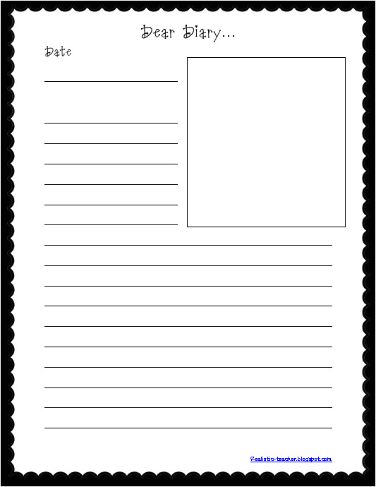 Dear Diary Template 4 Diary Template Ganttchart Template
