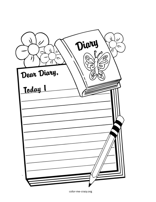 Dear Diary Template Coloring Violetta Diary Coloring Pages
