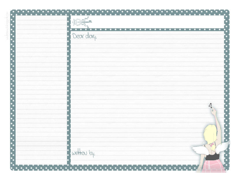 search q dear diary template form restab