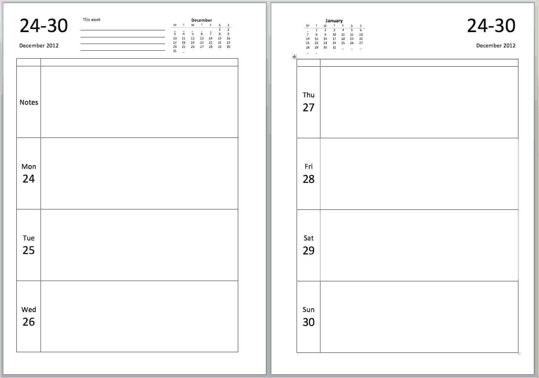 dear diary template