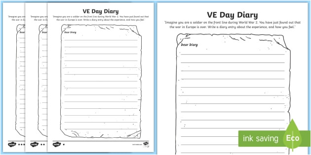 t2 h 4715 ve day diary writing template