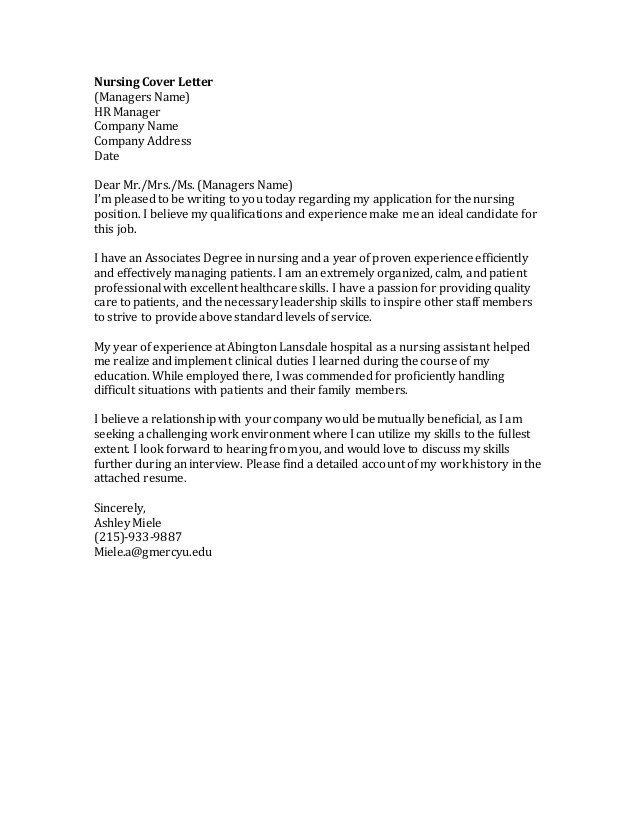 nursing cover letter 47289788