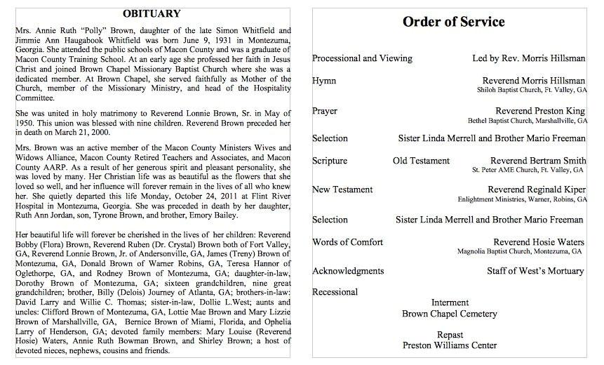 obituary templates
